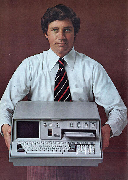 first portable computer 1975 55lbs ibm