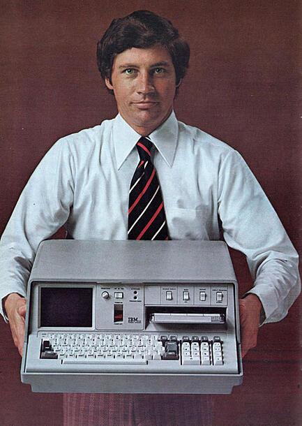 first portable computer 1975 55lbs ibm