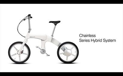 First Chainless Folding Electric Bike By Mando