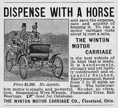 Worlds First Car Ad 1898